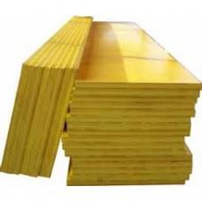 bekistingspaneel glad 200x50 - 27 mm gelaagd geel.