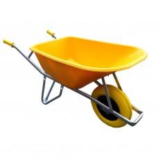 BouwkruiwagenFort/gele HDPE bak 100 L/NML wiel