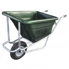 Landbouwkruiwagen 170L enkel wiel