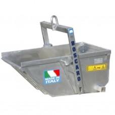 BOSCARO A-50DALU afvalbakken / kipbakken in ALUMINIUM Lt. 500