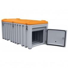 CEMbox 750L grijs/oranje met zijdeur