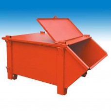 Kraan en stapelcontainer geverfd 1 m³(afvalbak) (Müba 25050)