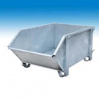 Kraan en stapelcontainer verzinkt 1 m³(afvalbak) (Müba 25059)