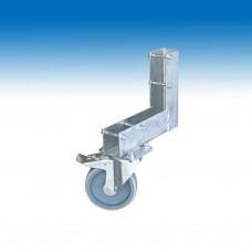müba wiel met rem voor werfhek met schroeven voor hoek  (Müba 39250)