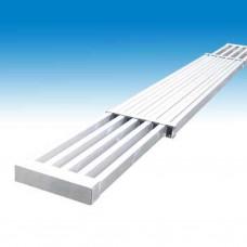 Alu uitschuifvloer 2.45m-3.96m/0.32m br (Müba 10943)