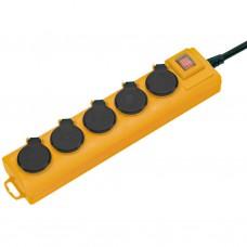 Verdeelblok IP44/3x2.5/2m kabel/5 stopcontacten