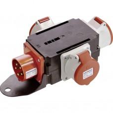 Verdeelblok ABS 16A - 400V / 3 stekkers 400V/16A