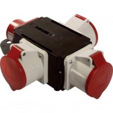 Verdeelblok ABS 32A - 400V / 3 stekkers 400V/32A