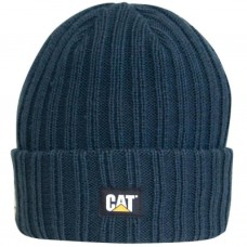 CAT C443 Muts grote ribben Marine blauw L