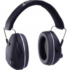 ELECTRONISCHE PLOOIBARE GEHOORKAP - SNR 26 dB Aanpasbaar Zwart