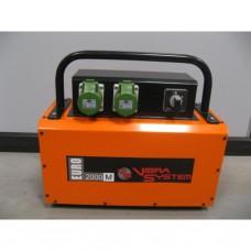 Vibra System - SE2000M.0340 omvormer Euro 220V / 2,4 kva / 2 aansluitingen